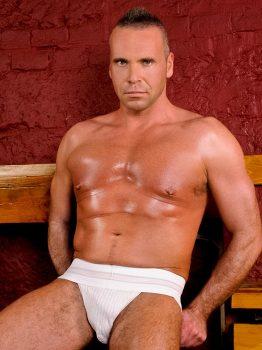 male muscle porn star: Greg Wilson, on hotmusclefucker.com