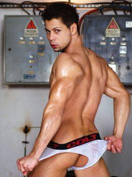 male muscle porn star: Emilio Guardi, on hotmusclefucker.com