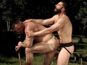 gay muscle porn clip: Bear - Aaron Cage & Bob Hager, on hotmusclefucker.com