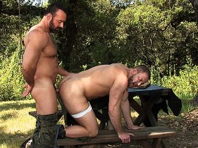 gay muscle porn clip: FUR MOUNTAIN - Brad Kalvo & Shay Michaels, on hotmusclefucker.com