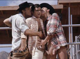 gay muscle porn clip: COWBOY COUNTRY - Brayden Forrester & Gunther Keller & Shadow, on hotmusclefucker.com